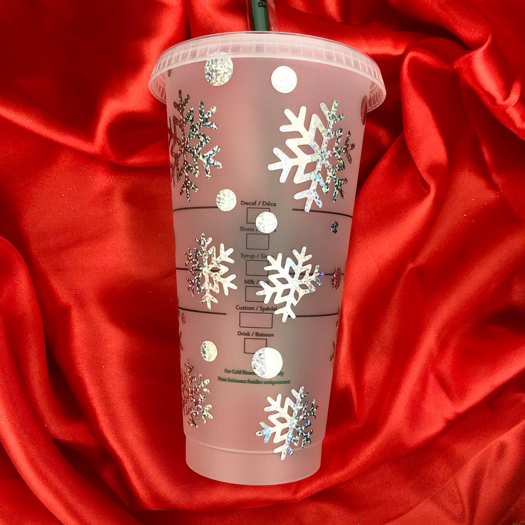 Holographic Snowflake Queen Starbucks Venti Cup 24oz