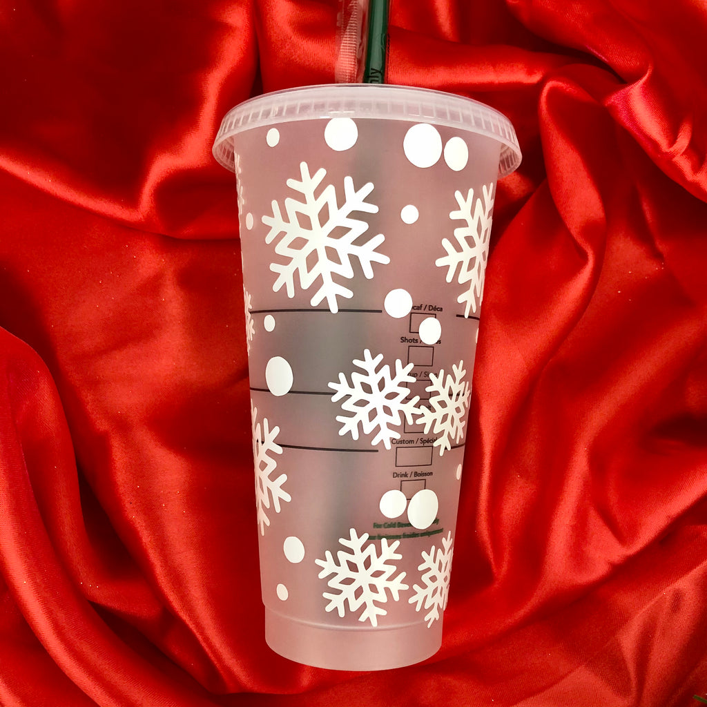 White Snowflake Queen Starbucks Venti Cup 24oz