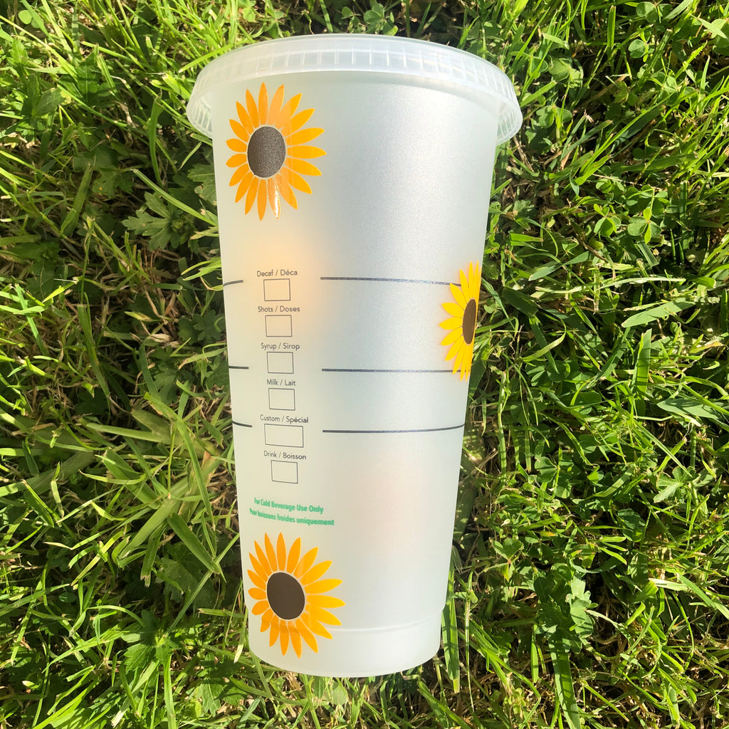 Sunflower Shinning Starbucks Cup