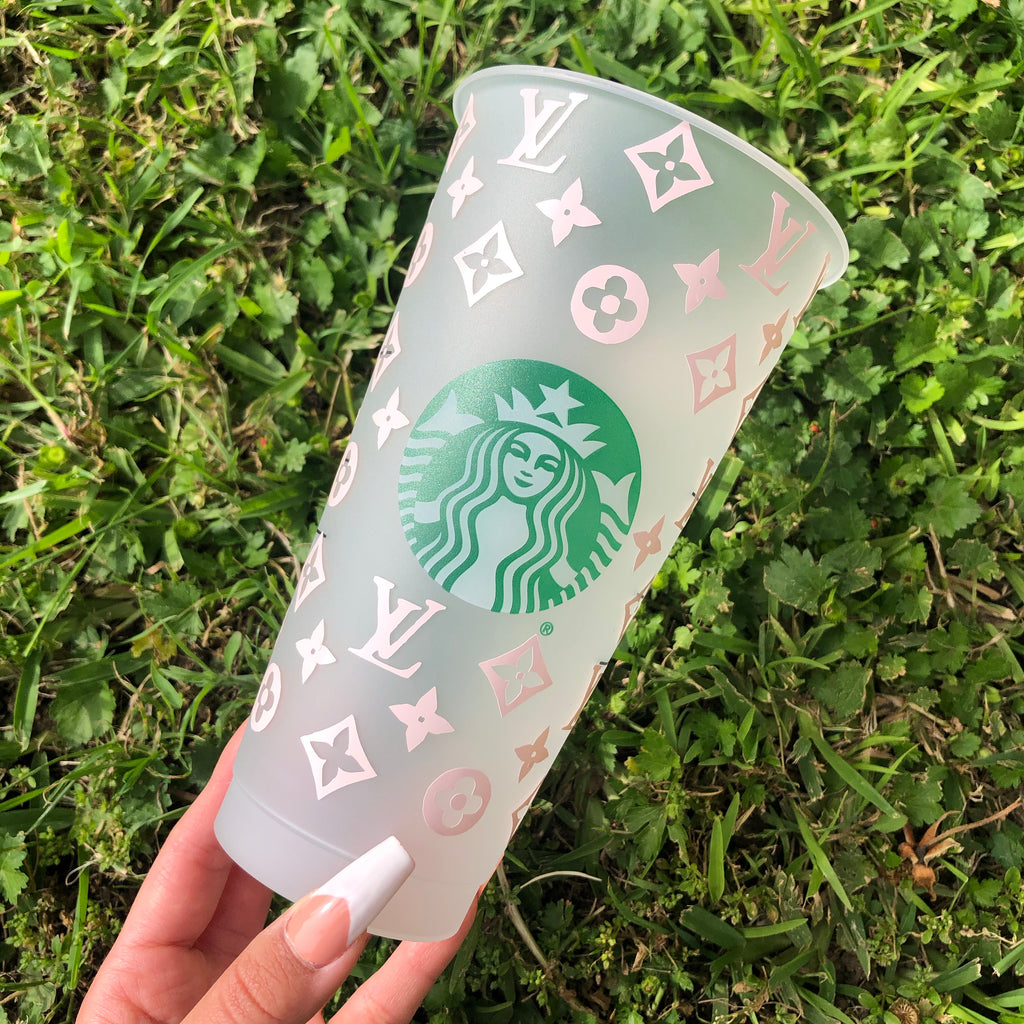 Baby Pink Louis Vuitton Custom Starbucks Cup