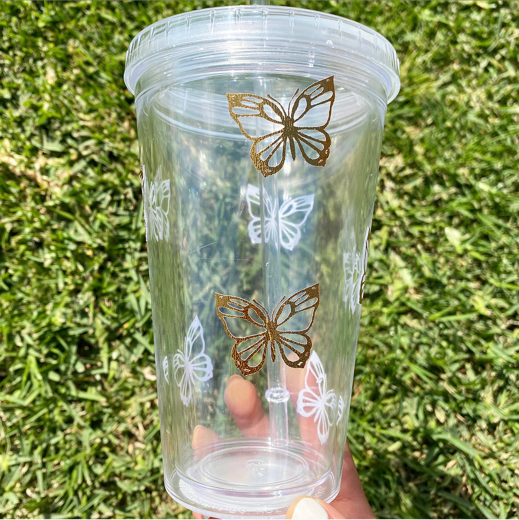 Rosegold Butterfly Cup