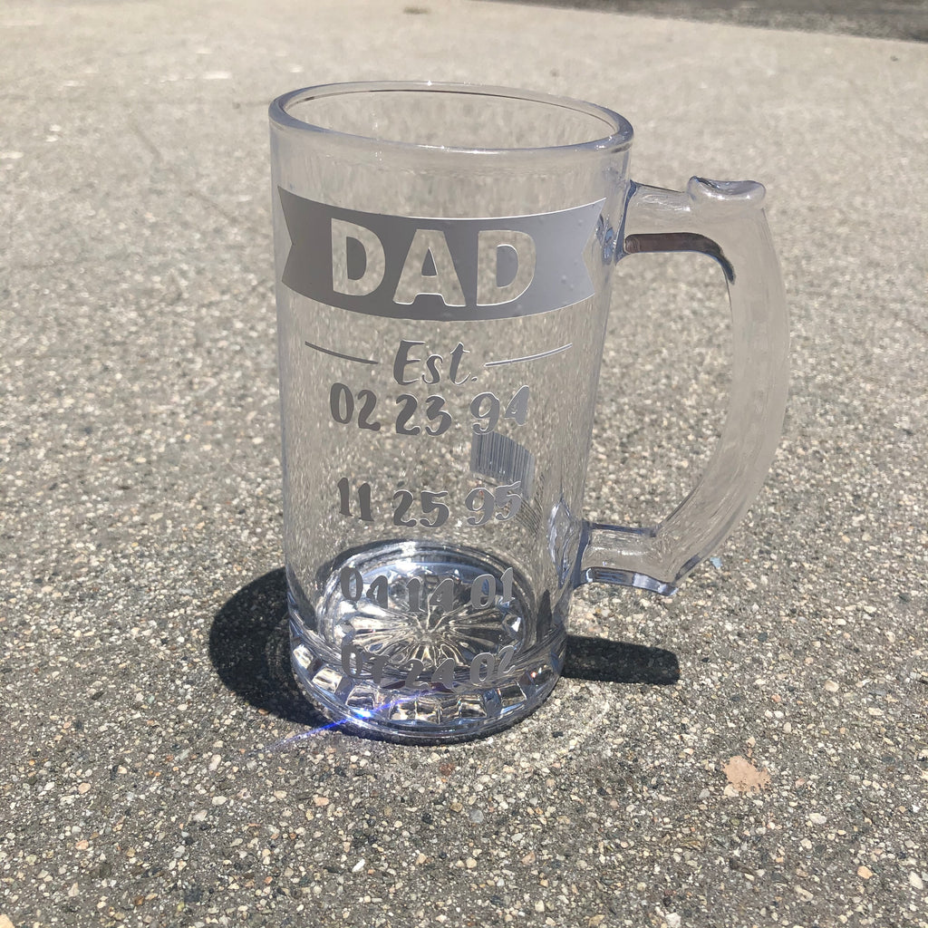 Best Dad Beer Cup 16oz.