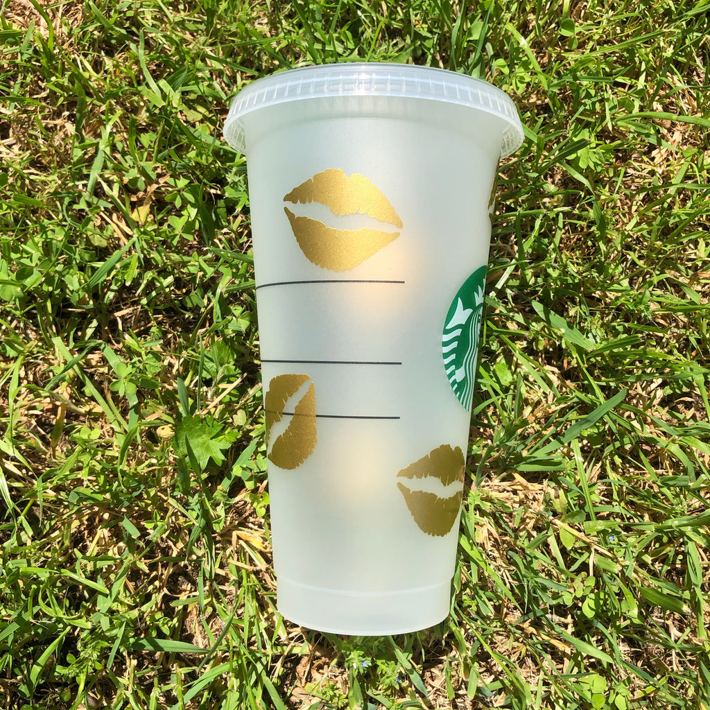 Obsessed Beauty Gold Lips Starbucks Cup
