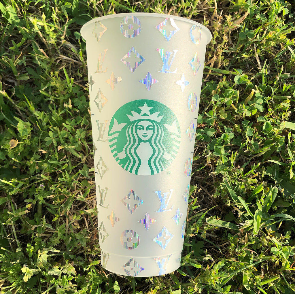 Holographic Louis Vuitton Custom Starbucks Cup