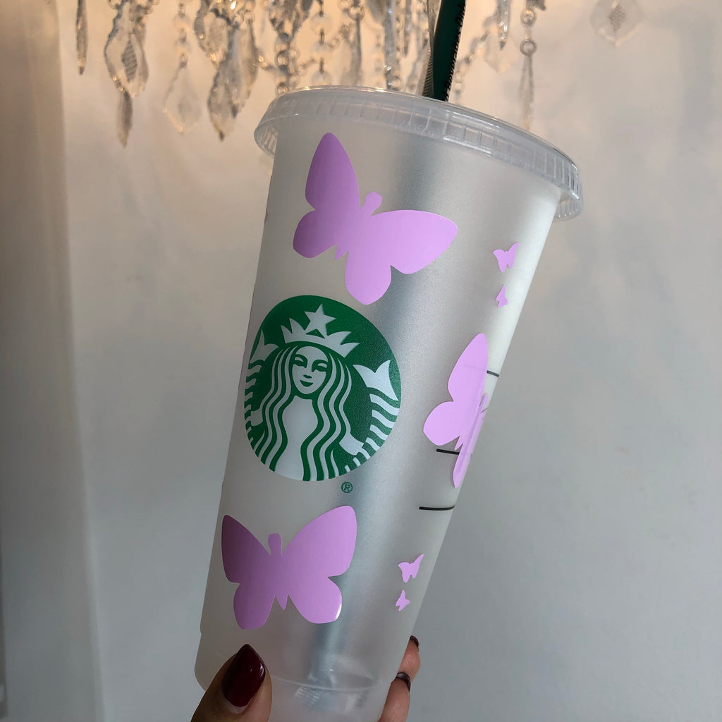 Butterfly Starbucks Cups