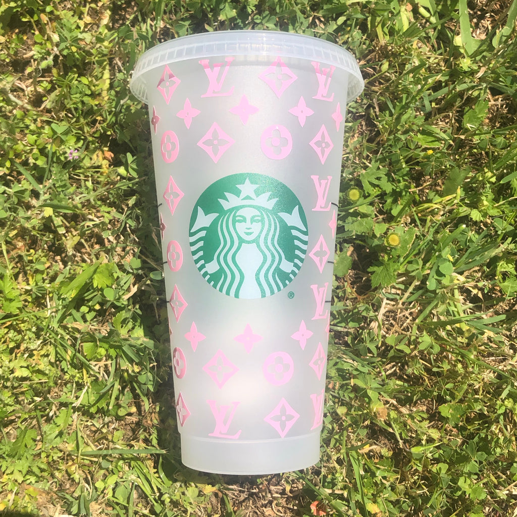 Barbie Pink Louis Vuitton Custom Starbucks Cup