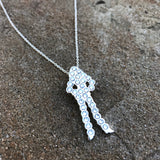 Chrome & Crystal Silhouette Necklace