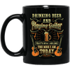 Drinking Beer and Playing Guitar Guitar Mug