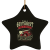 Guitarist To Worship v2 Star Ornament