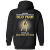 Old Man Plays Electric Guitar Hoodie