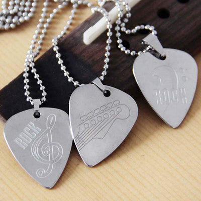 silver products teurfs pick necklace ryan guitar honeyglass