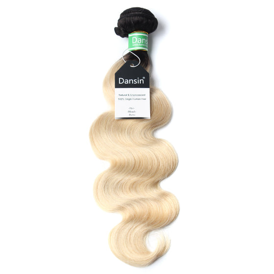 Luxury 10A 1B 613 Blonde Ombre Brazilian Body Wave Hair 1 Bundle
