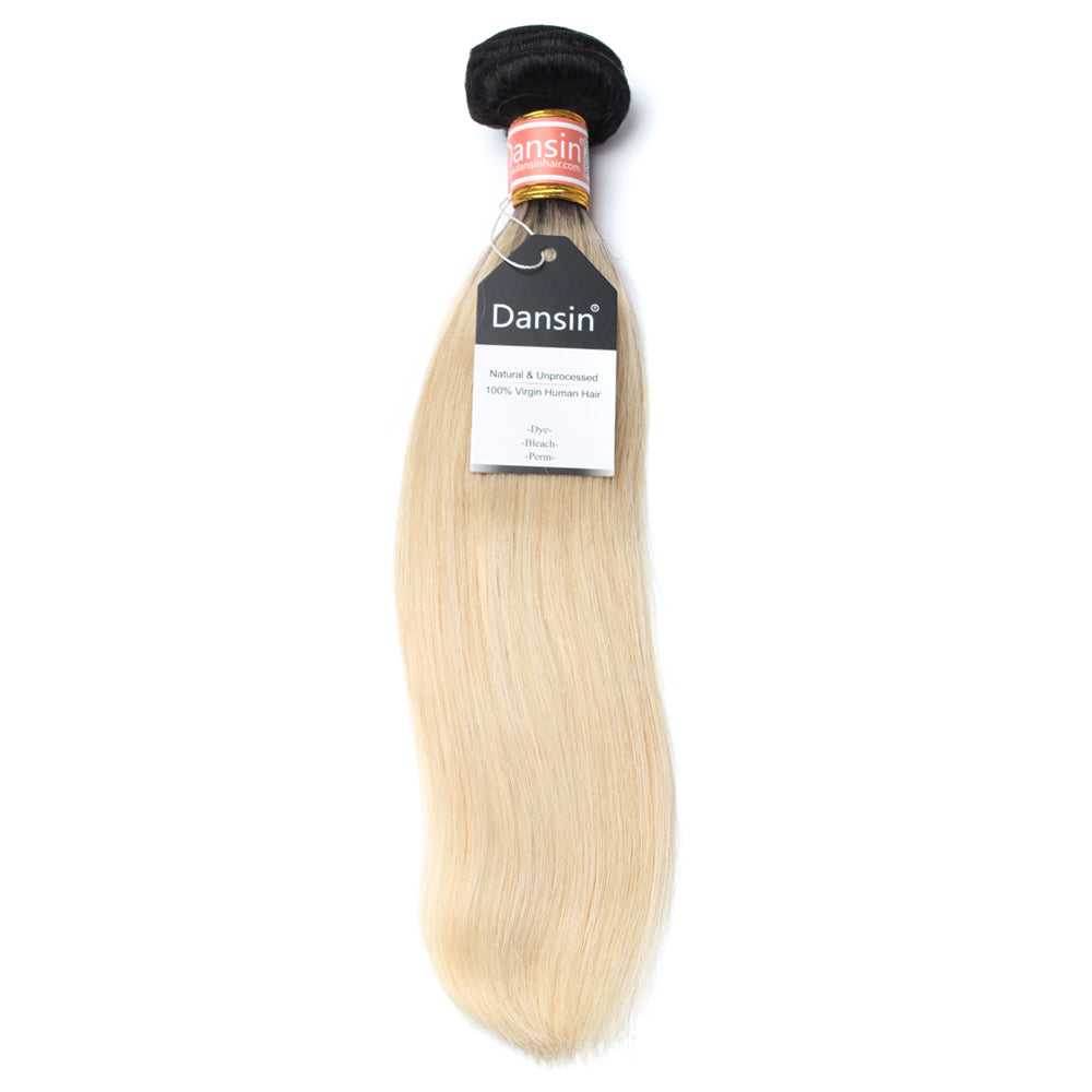 Luxury 10A 1B 613 Blonde Ombre Malaysian Straight Hair 1 Bundle