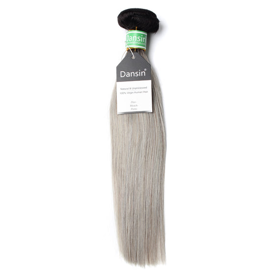 Luxury 10A Brazilian 1B Gray Ombre Straight Hair 1 Bundle