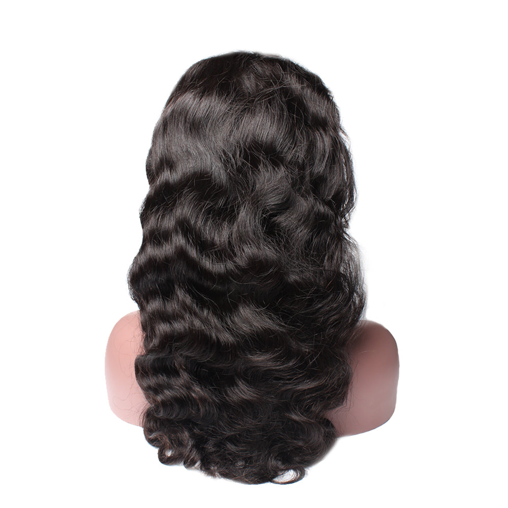 Luxury 130% Density Body Wave Human Hair 360 Lace Frontal Wigs Back