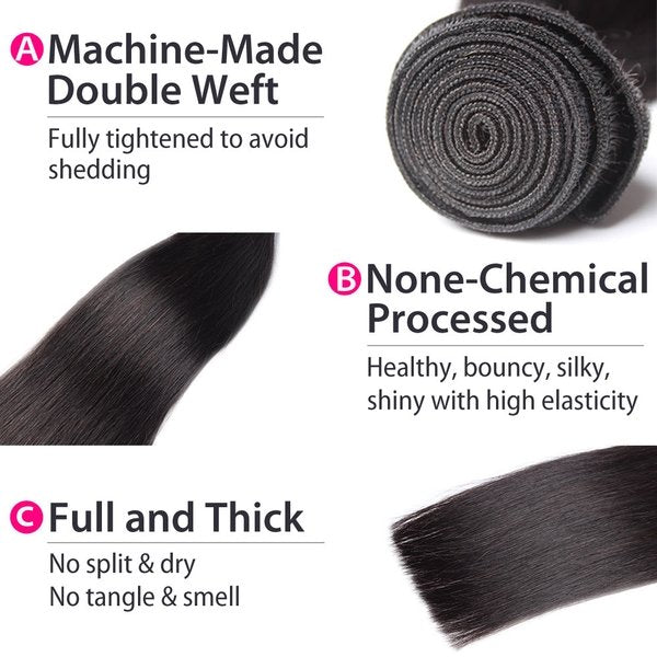 malaysian straight hair details