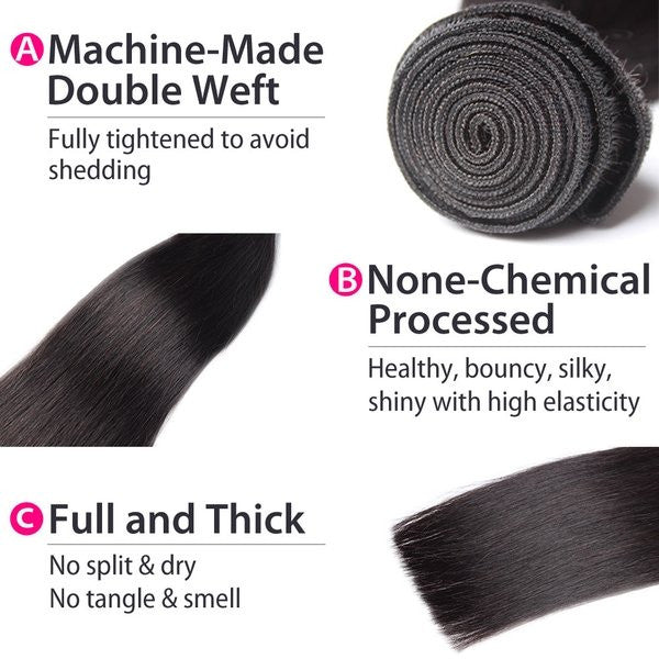 Luxury 10A Peruvian Straight Hair 1 Bundle Details