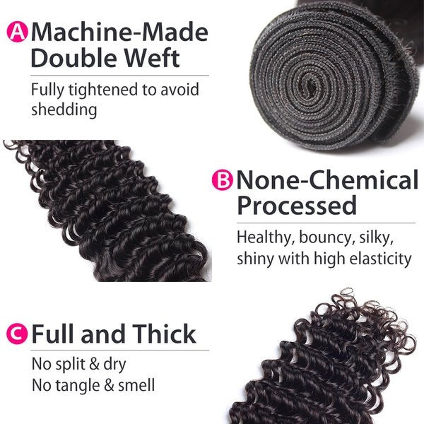 malaysian deep wave hair details