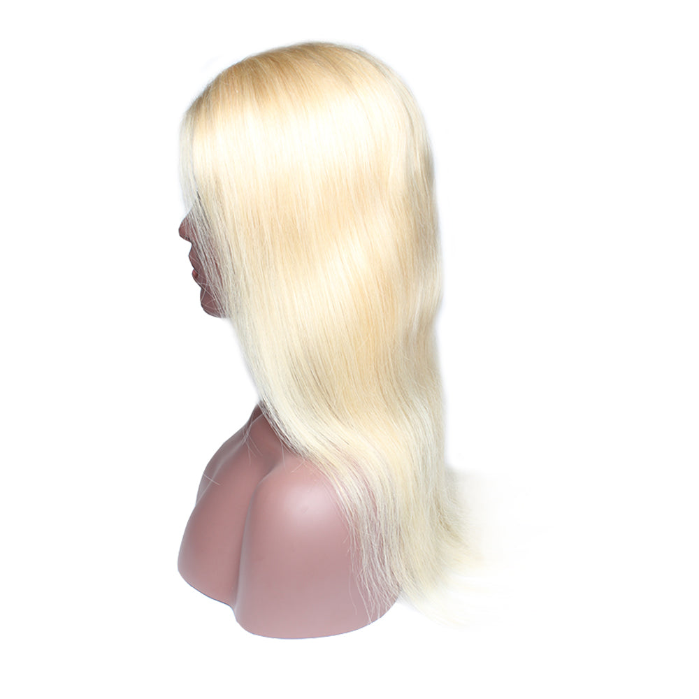 Luxury 130% Density 613 Blonde Straight Human Hair Lace Front Wigs Right