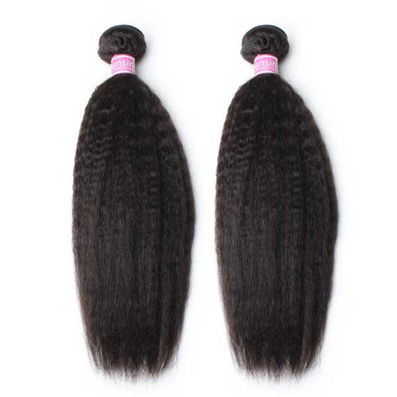 Luxury 10A Peruvian Kinky Straight Hair 2 Bundles