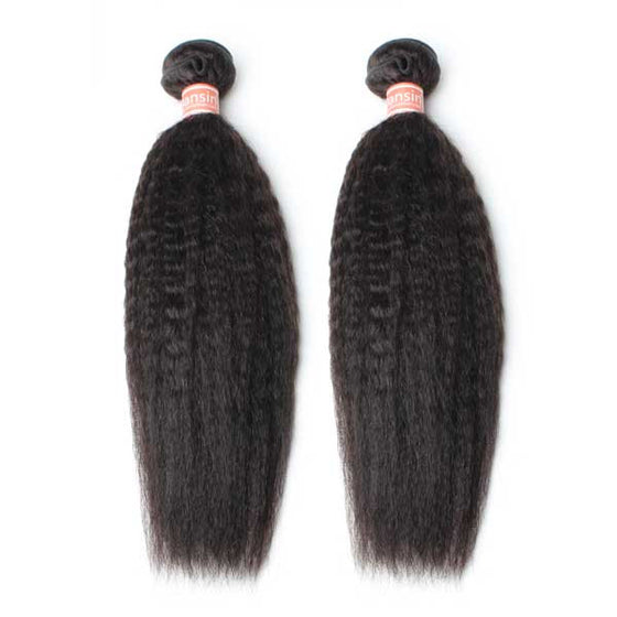 Malaysian Kinky Straight Hair 2 Bundles