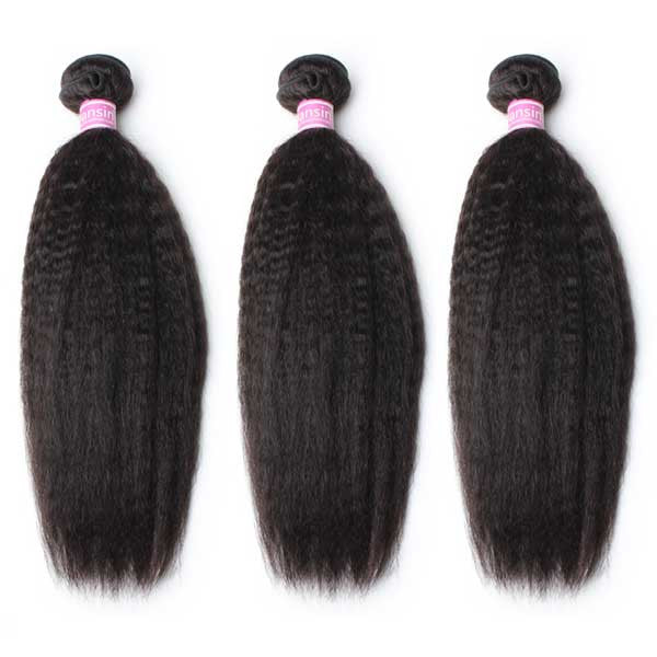 Luxury 10A Peruvian Kinky Straight Hair 3 Bundles