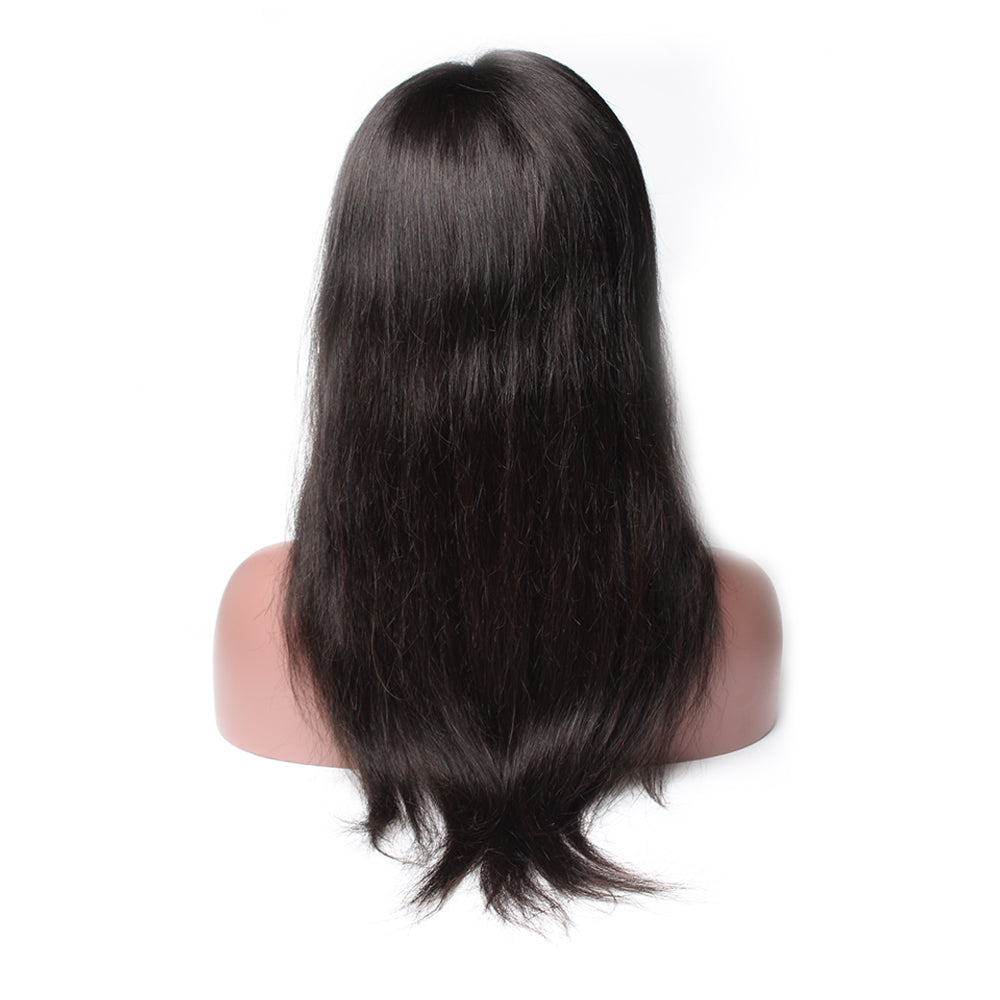Luxury 130% Density Straight Human Hair Lace Front Wigs Back