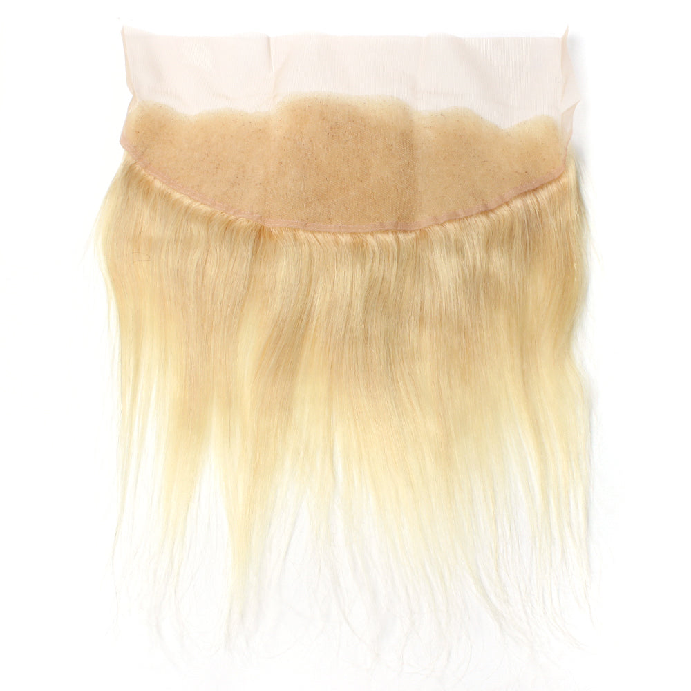 Luxury 10A 613 Blonde Straight Lace Frontal Back