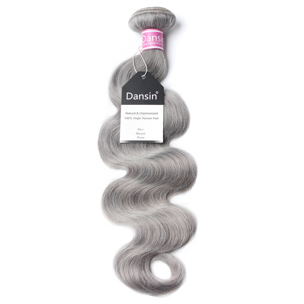 Luxury 10A Peruvian Pure Gray Body Wave Hair 1 Bundle