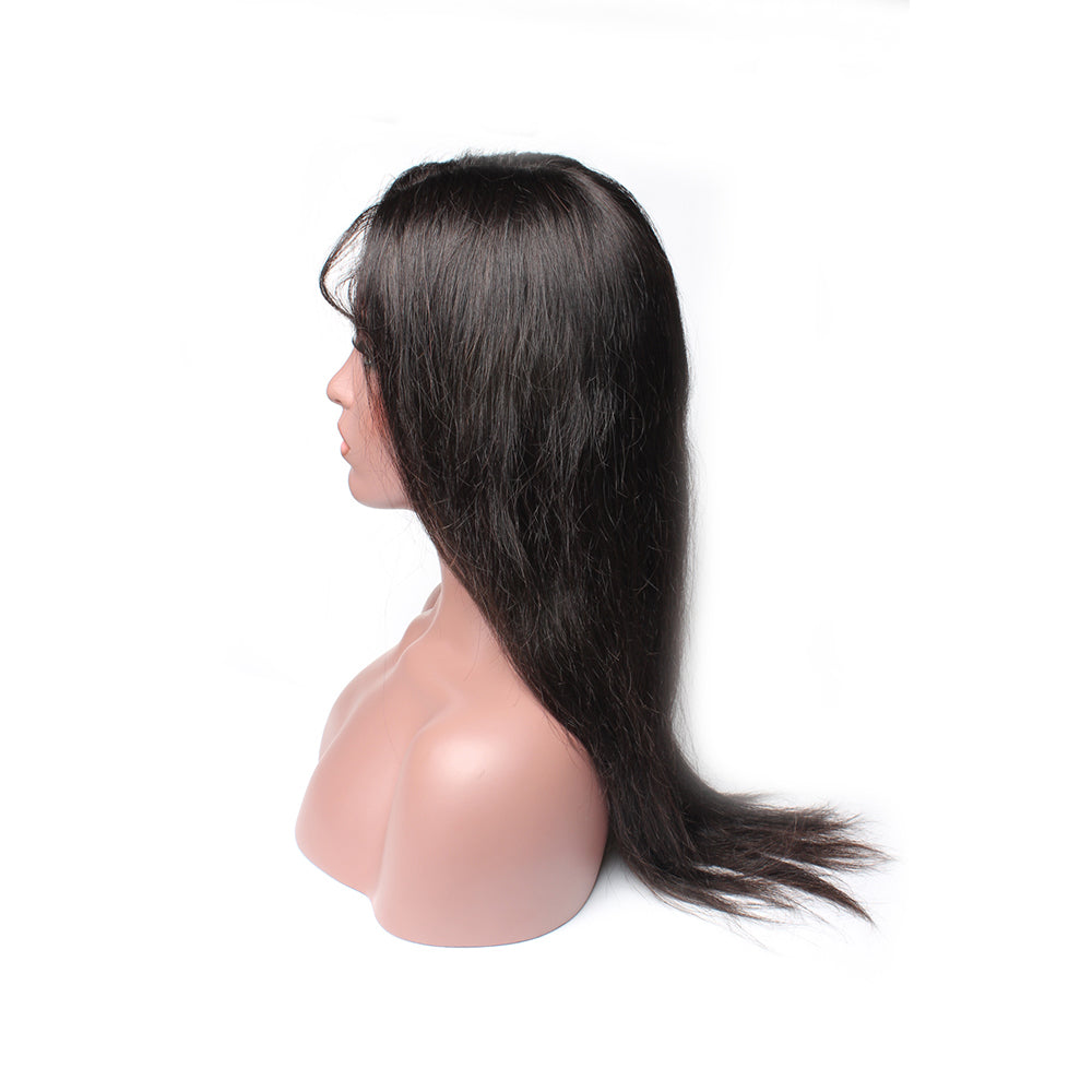 Luxury 130% Density Straight Human Hair Lace Front Wigs Right