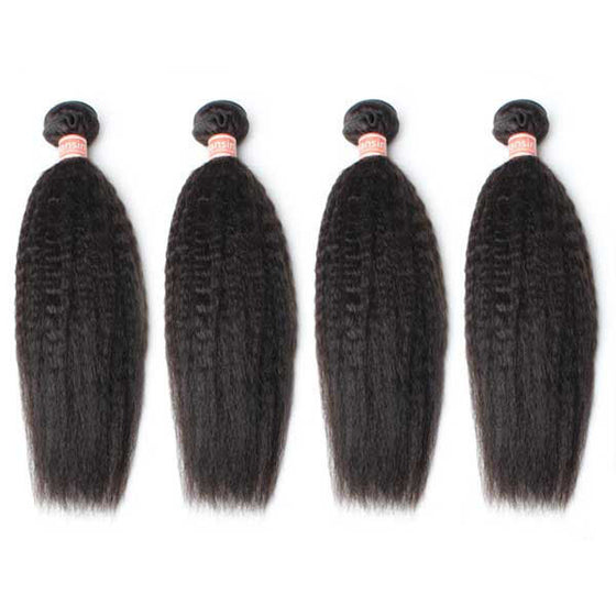 Malaysian Kinky Straight Hair 4 Bundles