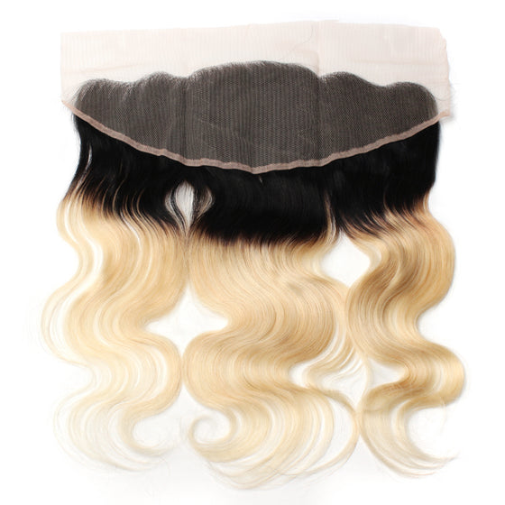 Luxury 10A 1B 613 Blonde Ombre Body Wave Lace Frontal