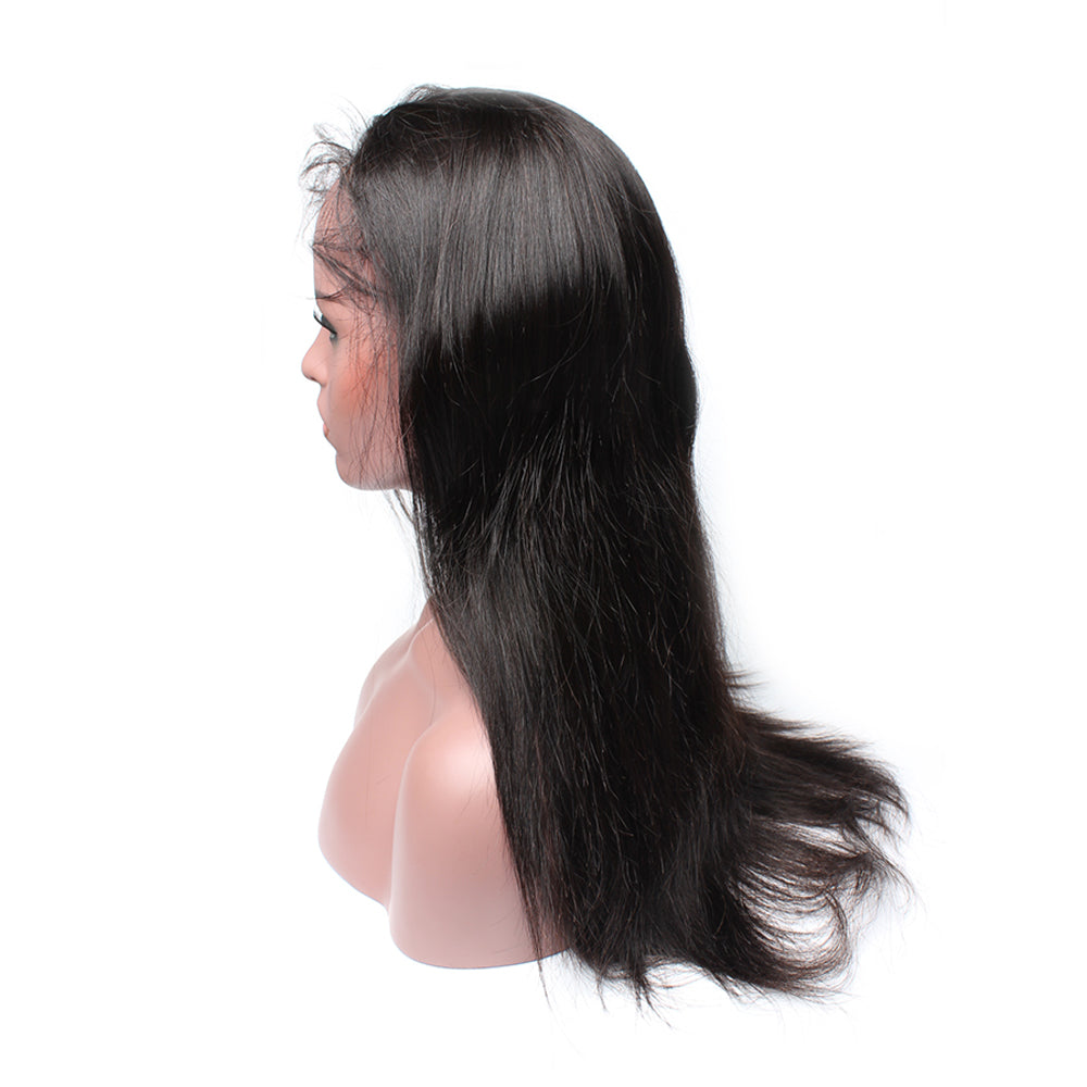 Luxury 130% Density Straight Human Hair 360 Lace Frontal Wigs Right