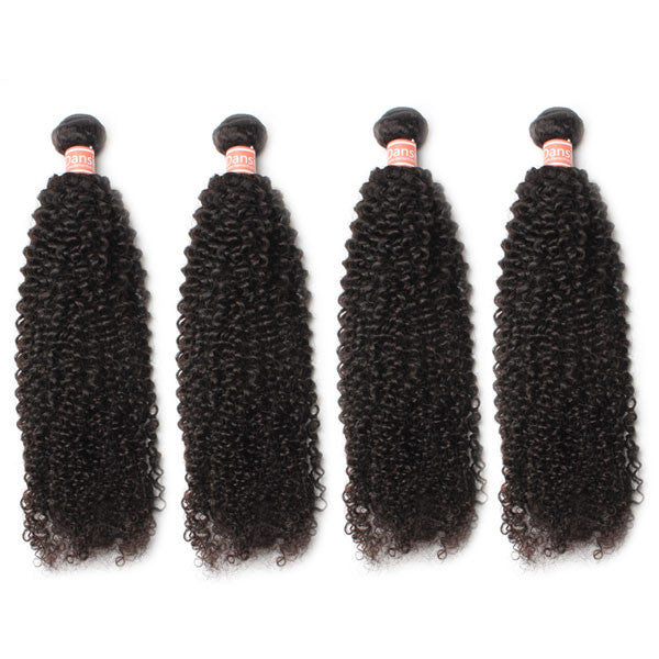 10A Malaysian Kinky Curly Hair 4 Bundles