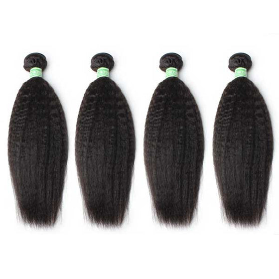 Brazilian Kinky Straight Hair 4 Bundles