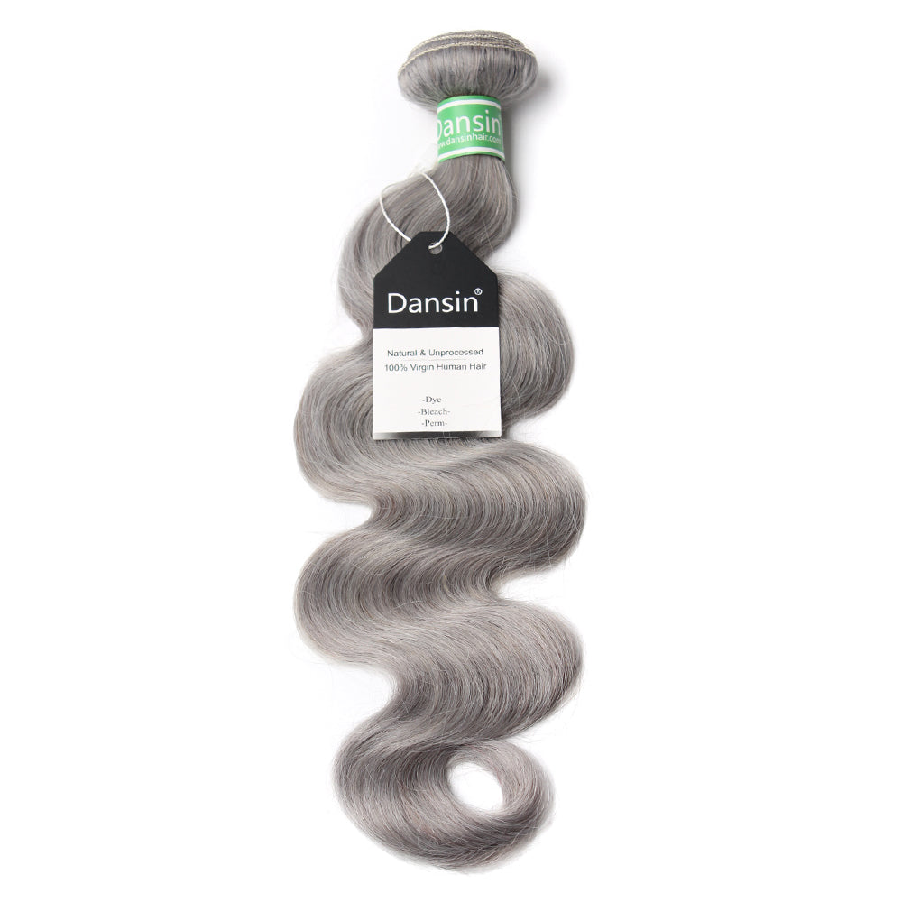 Luxury 10A Brazilian Pure Gray Body Wave Hair 1 Bundle