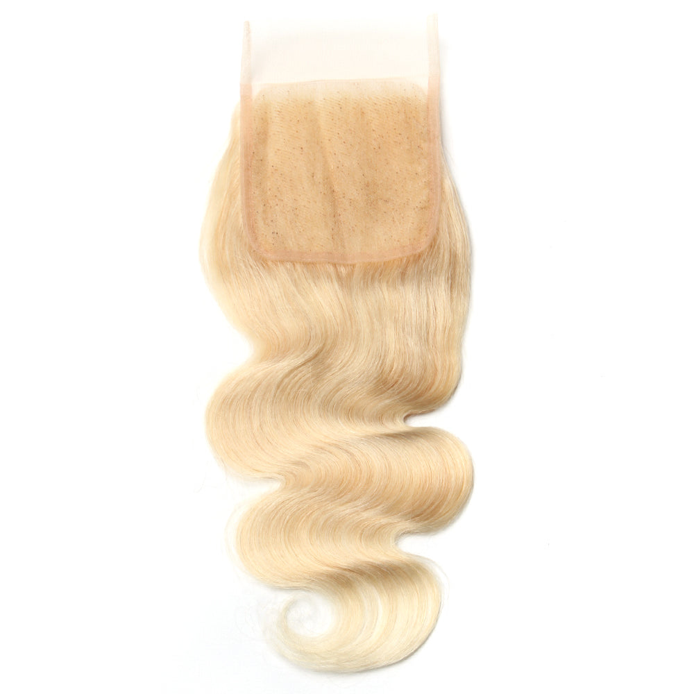 Luxury 10A 613 Blonde Body Wave Lace Closure Back