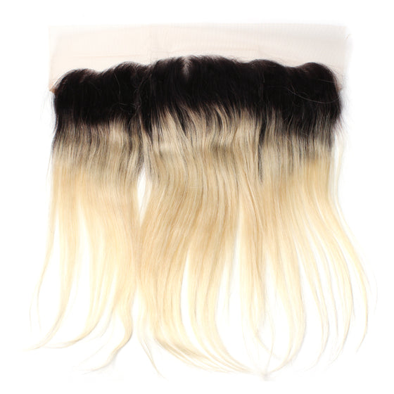 Luxury 10A 1B 613 Blonde Ombre Straight Lace Frontal