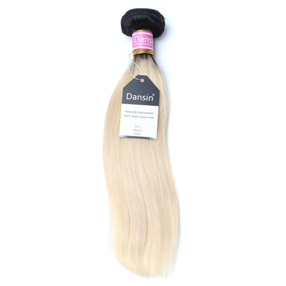 Luxury 10A 1B 613 Blonde Ombre Peruvian Straight 1 Bundle