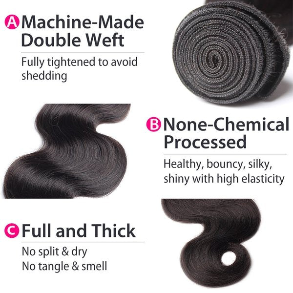 malaysian body wave hair details