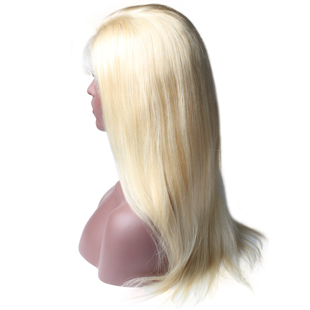 Luxury 150% Density 613 Blonde Straight Human Hair Full Lace Wigs Right