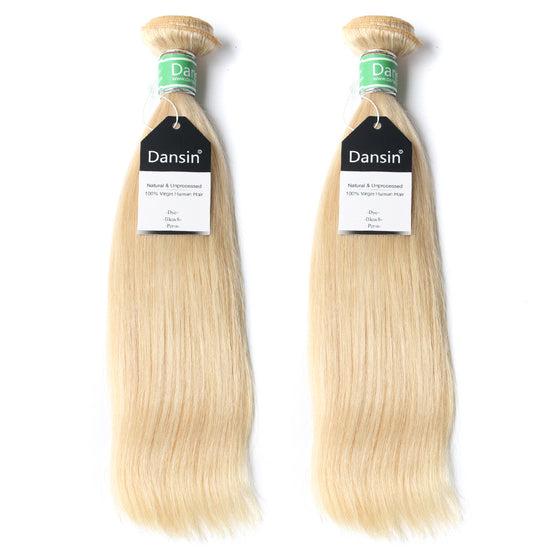 Luxury 10A Brazilian 613 Blonde Straight Hair 2 Bundles