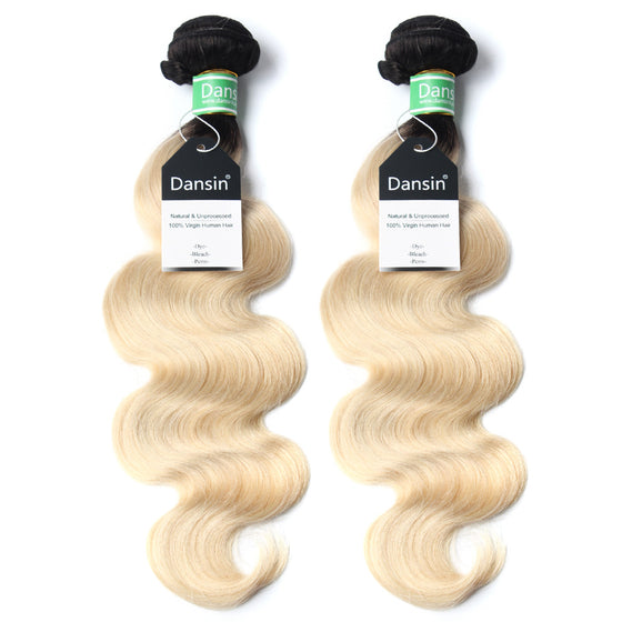 Luxury 10A 1B 613 Blonde Ombre Brazilian Body Wave Hair 2 Bundles
