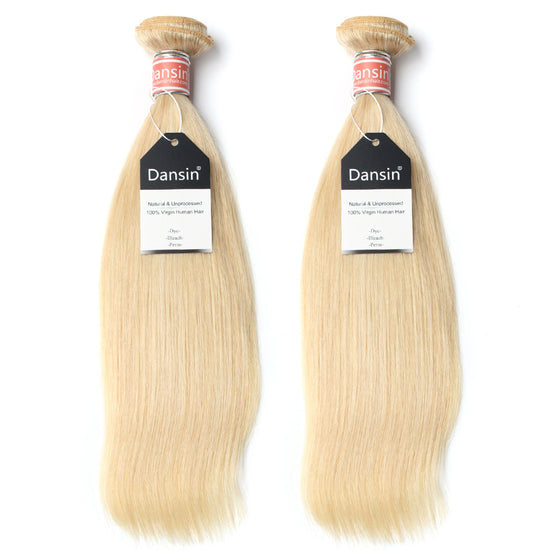 Luxury 10A Malaysian 613 Blonde Straight Hair 2 Bundles