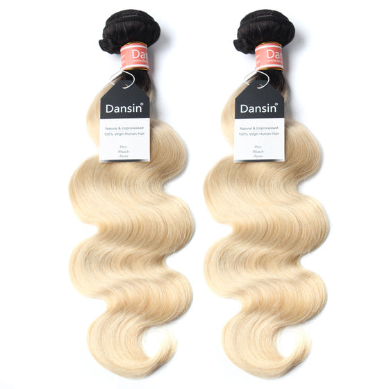 Luxury 10A 1B 613 Blonde Ombre Malaysian Body Wave Hair 2 Bundles