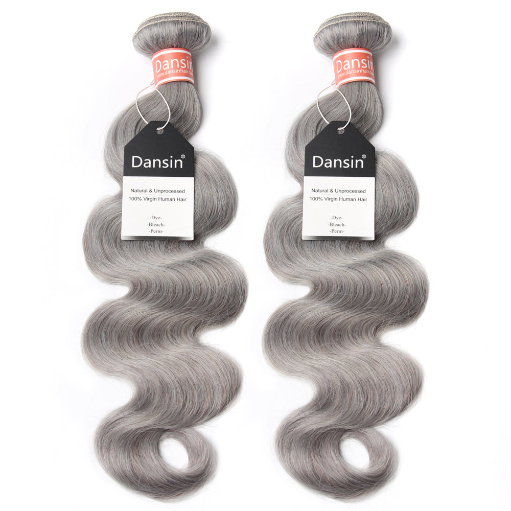 Luxury 10A Malaysian Pure Gray Body Wave Hair 2 Bundles