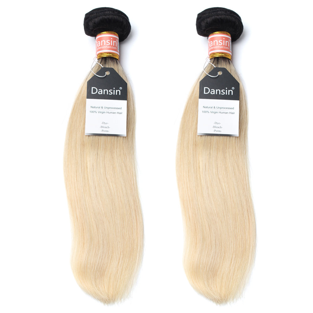 Luxury 10A 1B 613 Blonde Ombre Malaysian Straight Hair 2 Bundles