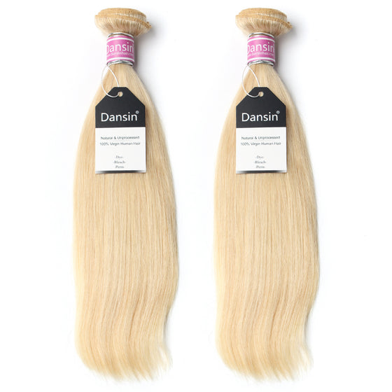 Luxury 10A Peruvian 613 Blonde Straight Hair 2 Bundles