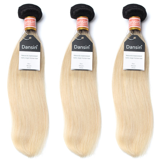 Luxury 10A 1B 613 Blonde Ombre Malaysian Straight Hair 3 Bundles