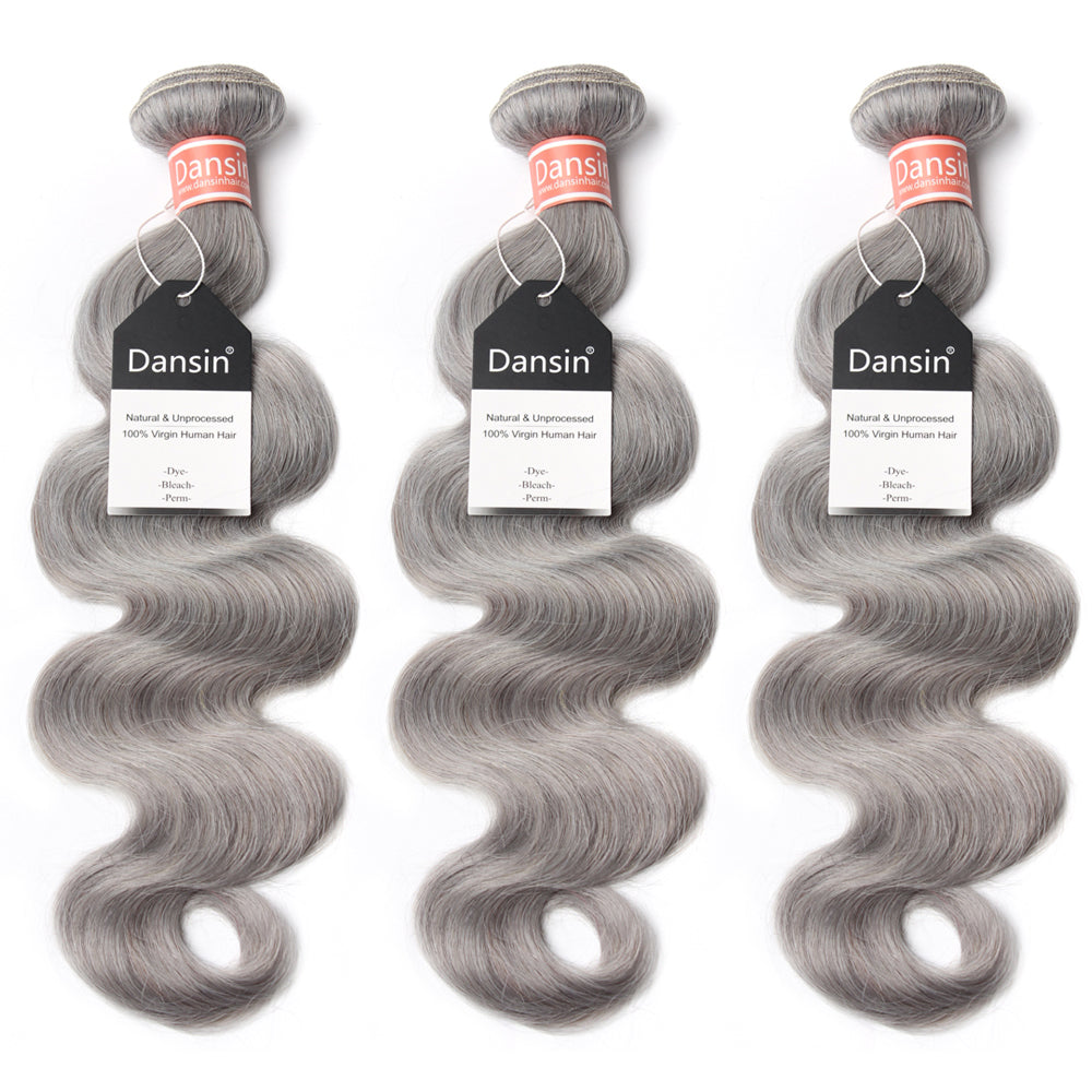Luxury 10A Malaysian Pure Gray Body Wave Hair 3 Bundles